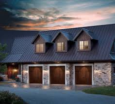 garage decor garage traditional with gravel driveway night
