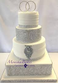 wedding cakes with bling pink and silver wedding cakes wedding cake silver bling