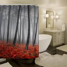 new design autumn italian forest waterproof polyester shower