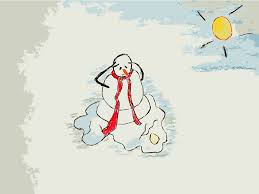 clipart melting snowman daily sketch 25