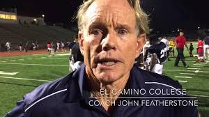 el camino college el camino college coach john featherstone youtube
