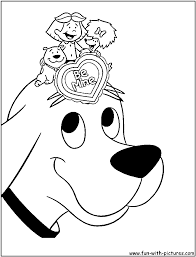 clifford the big red dog coloring page glum me