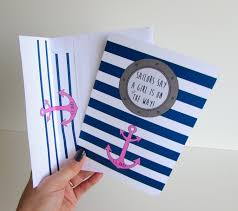 nautical baby shower invitation gender reveal shower