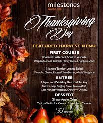 thanksgiving dinner milestones on the falls restaurant