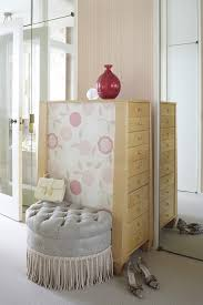 chicago pink tufted ottoman closet shabby chic style with glass