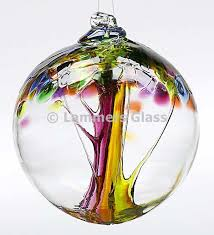 blown glass tree of