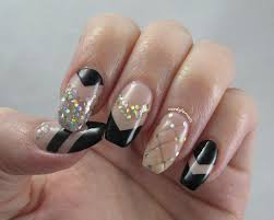 nerdy for nails quilted glitter chevron nails