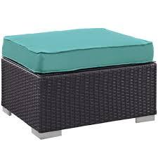 Teal Storage Ottoman Furniture Turquoise Ottoman Round Footstool Ottoman Large