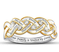 mothers rings stackable engraved sterling silver mothers rings 15 personalized rings will