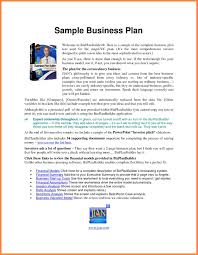 Business Plan Template In Excel by Example Of Business Plan Thebridgesummit Co