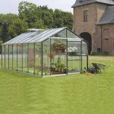 pare vent verre serre de jardin en verre trempé affinity 18 236 m leroy merlin