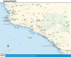 pacific region map planning your in costa rica s central pacific region