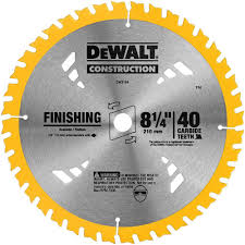 table saw blade width dewalt 8 1 4 in 40t carbide thin kerf circular saw blade dw3184