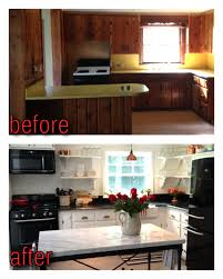 Home Depot Kitchen Makeover - remodelaholic kitchen renovation updating knotty pine cabinets