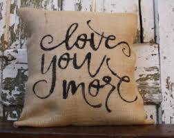 Burlap Decorative Pillows Burlap Throw Pillows Etsy