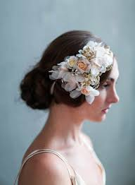 wedding hair flowers silk flowers handmade silk flowers bridal hair flowers twigs