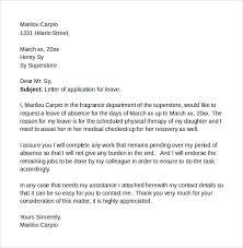 letter format leave u2013 zehe