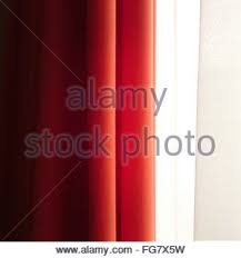 Red Orange Curtains Orange Curtains On Window In Townhouse Living Room With Chinese