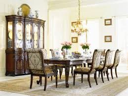 Grandeur  Piece Rectangle Leg Dining Table Set In Cherry Ash Burl - Hooker dining room sets