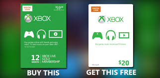 xbox live gift cards deal alert buy an xbox live gold 12 month membership and get a