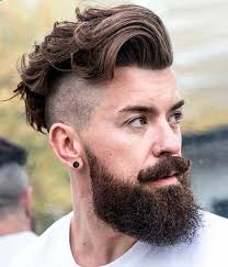 haircuts with beards side cut and full beard hipster haircut beards pinterest