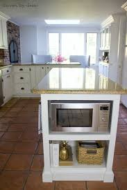 kitchen microwave ideas our remodeled kitchen island with built in microwave shelf