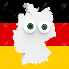 Black And Red Flag Country Cartoon Country Map Germany With Big Eyes German Flag In