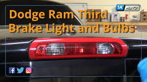 2001 dodge ram 1500 third brake light how to install replace third brake light and bulbs 2008 dodge ram