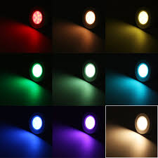 rgb led cabinet lighting kit 2w led puck lights torchstar
