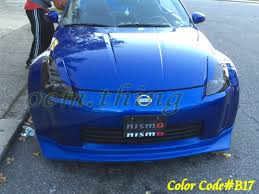 painted color b17 for 350 z fairlady z 2d coupe eyelids headlight