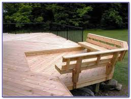 built in deck bench seating decks home decorating ideas