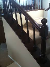 Oak Banister Painting Faux Mahogany On Honey Oak Banister And Railings U2014 Easy