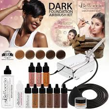 airbrush makeup for black skin 4 clr airbrush makeup set compressor hose found bag