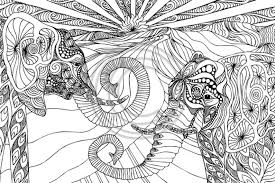 20 free printable hard elephant coloring pages adults