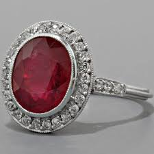 Ruby Wedding Rings by Antique Ruby Engagement Ring