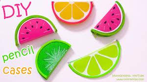 diy pencil cases fruits watermelon lemon kiwifruit u2013 no sew