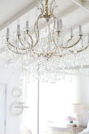 how to get french cottage charm with a beautiful chandelier