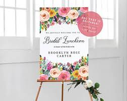 Brooklyn Baby Shower - baby shower easel etsy