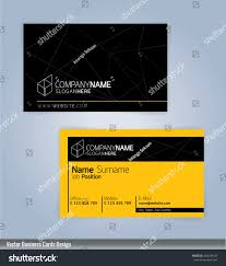 yellow black modern business card template stock vector 468299105