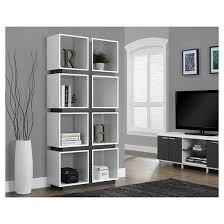 hollow core bookcase white gray everyroom target