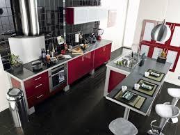 bar de cuisine moderne idée relooking cuisine cool idée relooking cuisine table avec bar de