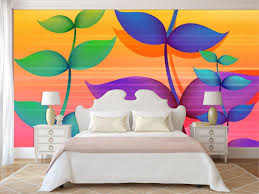 wall mural painted flowers fotomurales arte kids wall mural strawberry shortcake