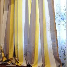 Yellow Stripe Curtains Adorable Striped Linen Curtains Decorating With Linen