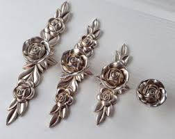 Shabby Chic Cabinet Pulls by Rose Drawer Pulls Etsy
