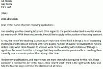 cover letter for a teaching assistant cover letter for teacher
