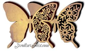 scroll saw patterns animals insects butterflies