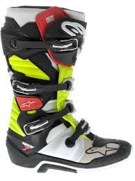 yellow motocross boots alpinestars black red yellow tech 7 mx boot ebay