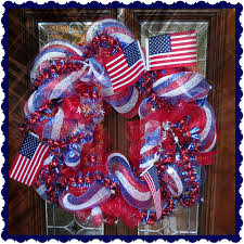 Fourth Of July Door Decorations Crafty In Crosby Patriotic Deco Mesh Wreath