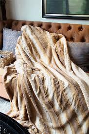 Faux Fox Fur Throw Amazon Com Tache 63 X 87 Inch Brown European Wolf Faux Fur Throw