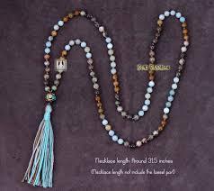 bead necklace long images Wholesale boho 6mm natural stone pendant necklace handmade bohemia jpg